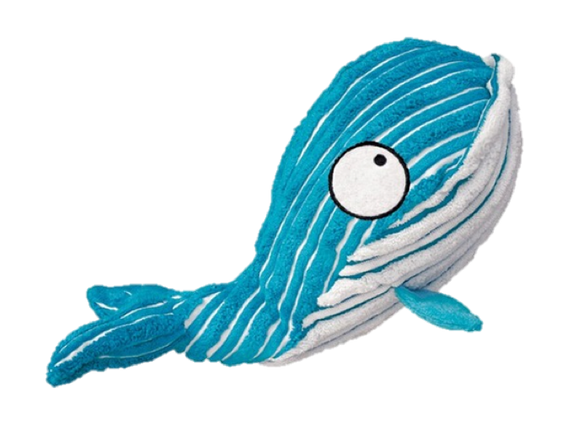 Paisley Paws Plush Squeaky Whale Dog Toy