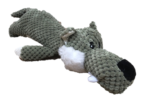 Paisley Paws Plush Squeaky Wolf Dog Toy