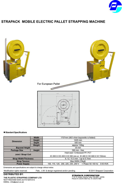 Strapack Electric Pallet Strapping machine