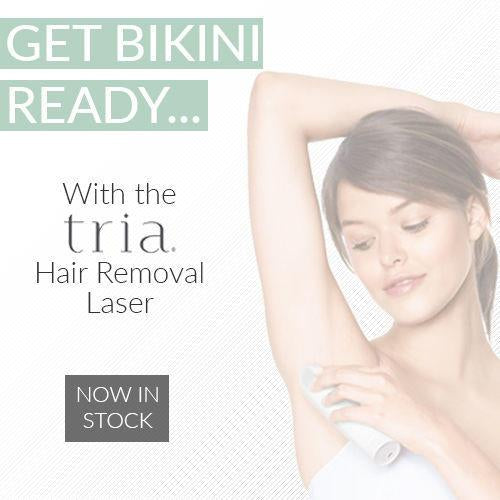 Get bikini ready with the Tria Hair Removal Laser