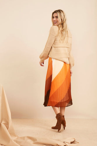SAINT TROPEZ Woven skirt under knee