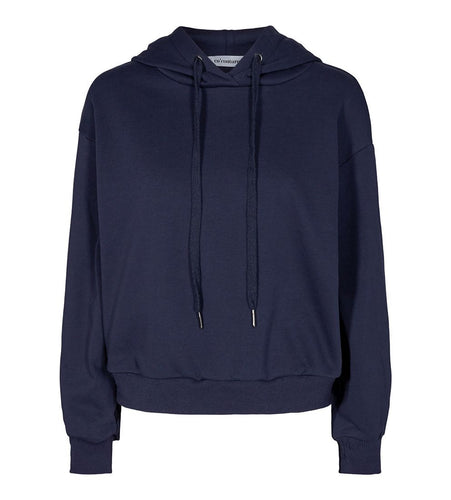 CO´ COUTURE Solid chop hoodie Navy