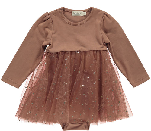MARMAR COPENHAGEN Ramona Ballerina Dotty dress Terracotta