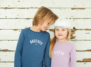 BOB AND BLOSSOM Brother Sweatshirt Blå
