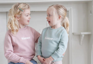 BOB AND BLOSSOM Sister Sweatshirt Rosa