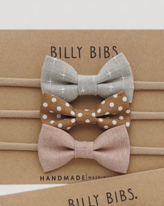 BILLYBIBS Hayden Bow Set, 3pk.Hårbånd baby Multi