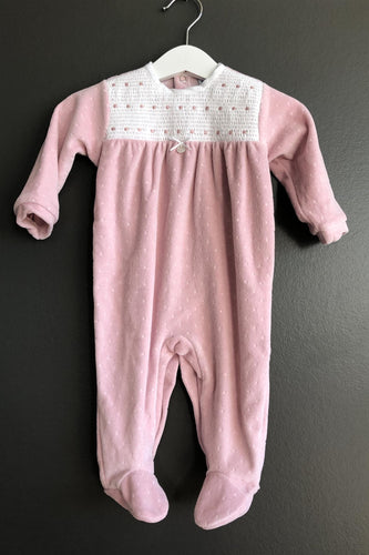 BABIDU Velour sparkedress Rosa