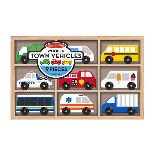 MELISSA AND DOUG Wooden Town Vehicles Multi