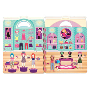 MELISSA AND DOUG Deluxe Puffy Sticker Album-Day of Glamour