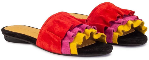 ANONYMOUS COPENHAGEN Vera suede slippers Multi