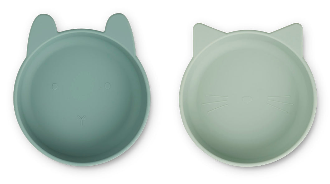 LIEWOOD Vanessa Bowl 2pack,mint mix Mintgrønn