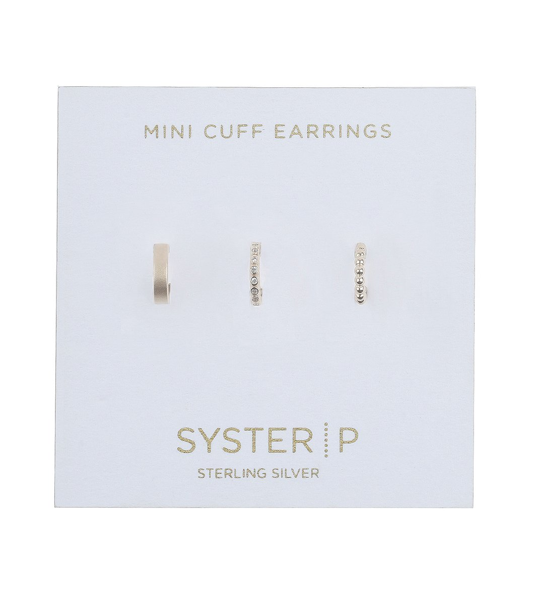 SYSTER P Mini cuff earrings sparkle