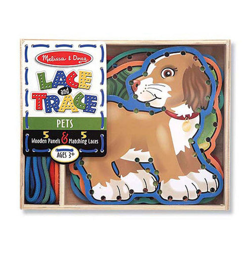 MELISSA AND DOUG Wooden Panels & Laces - Pets