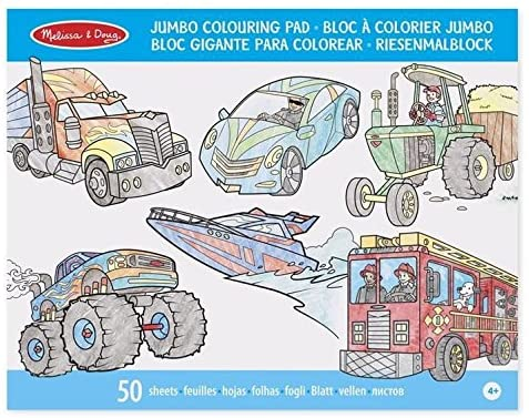 MELISSA AND DOUG Jumbo Colouring Pad - Vehicles