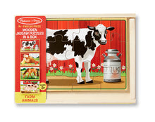 Last bilde inn i Gallery viewer, MELISSA AND DOUG Farm animals puzzle