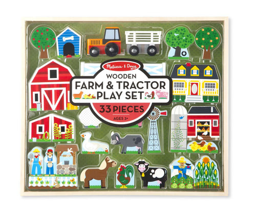 MELISSA AND DOUG Wooden Farm & Tractor Play