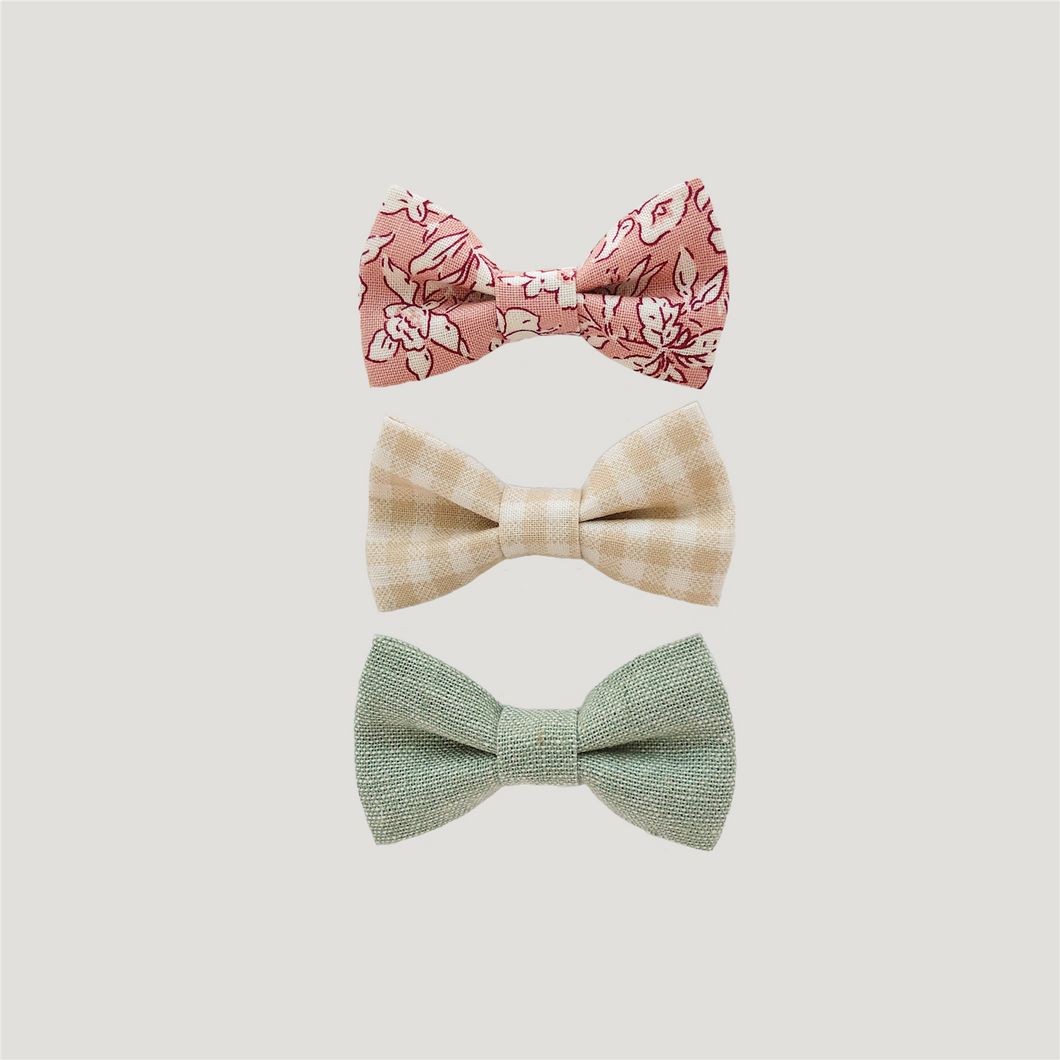 BILLYBIBS Lucia Bow Set, 3pk.Hårklemmer Multi