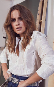 CO´ COUTURE Izabel anglaise shirt Hvit
