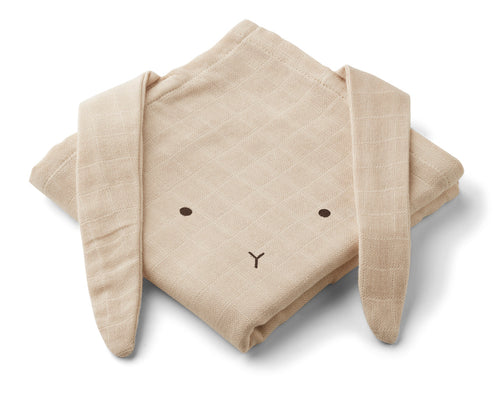 LIEWOOD Hannah Muslin cloth rabbit 2 pack Natur