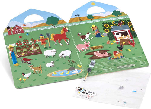 MELISSA AND DOUG Reusable Puffy Stickers-Farm