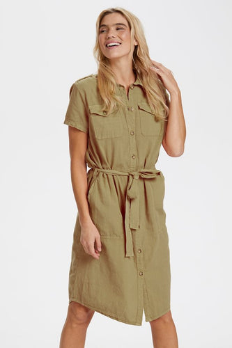 SAINT TROPEZ Kate dress Khaki
