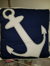 Load image into Gallery viewer, Cotton Anchor Pillow