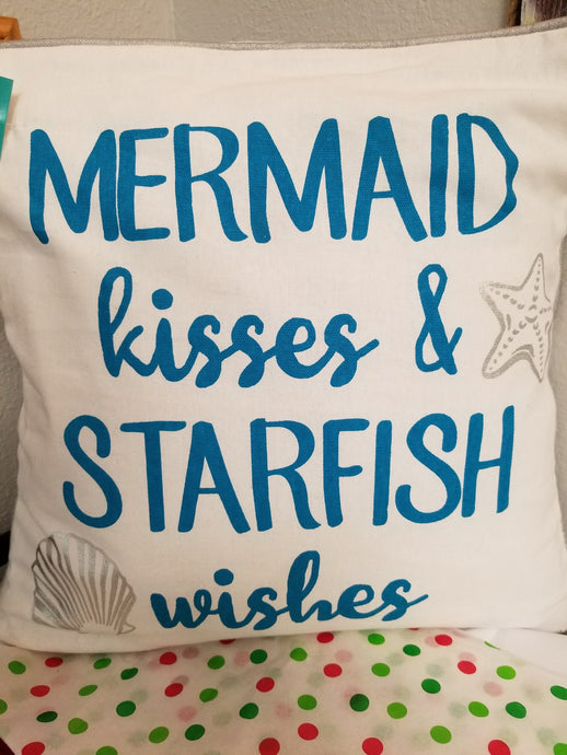 Mermaid Sayings Accent Pillow