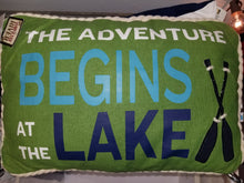 Load image into Gallery viewer, Lake Pillow With Rope Trim