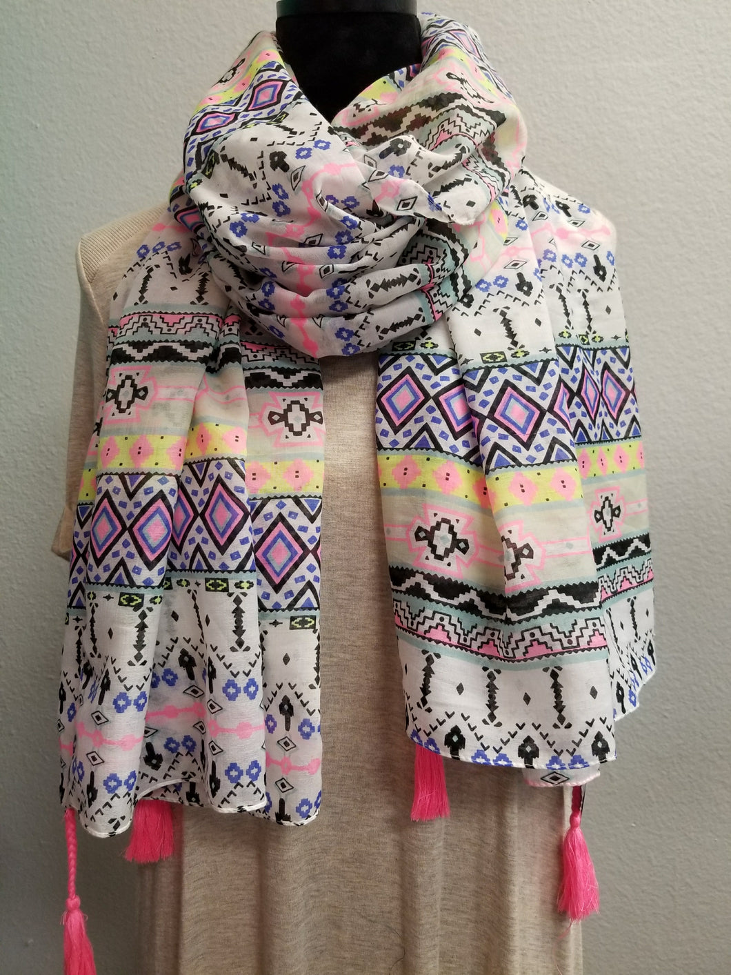 Tribal Scarf with Tassels