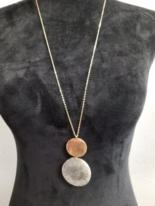 Gold Necklace w/Faux Stone