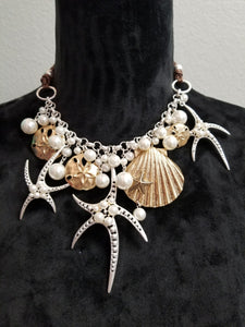 Seashell Necklace and Earring Set