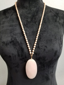 Peach Beaded Necklace