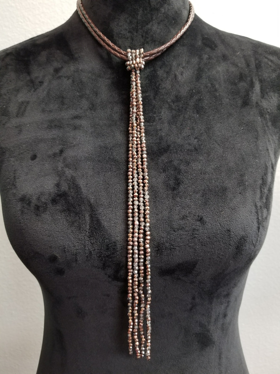 Rope/Beaded Necklace