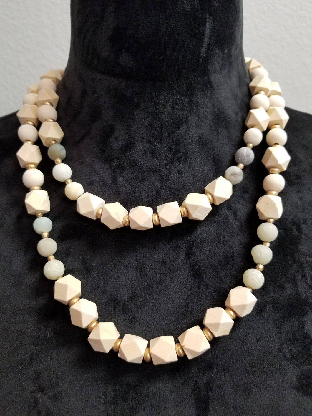 Double Layer Beaded Necklace