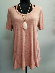 Speckled Peach Blouse