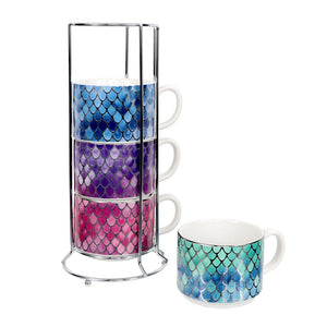 Scale Pattern Stacking Mug Set