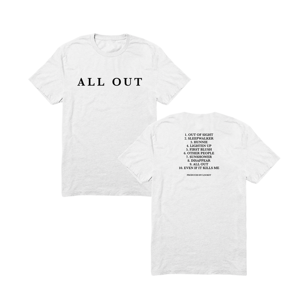 All Out Tracklist Tee