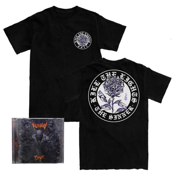 Razor Roses Tee + CD Bundle