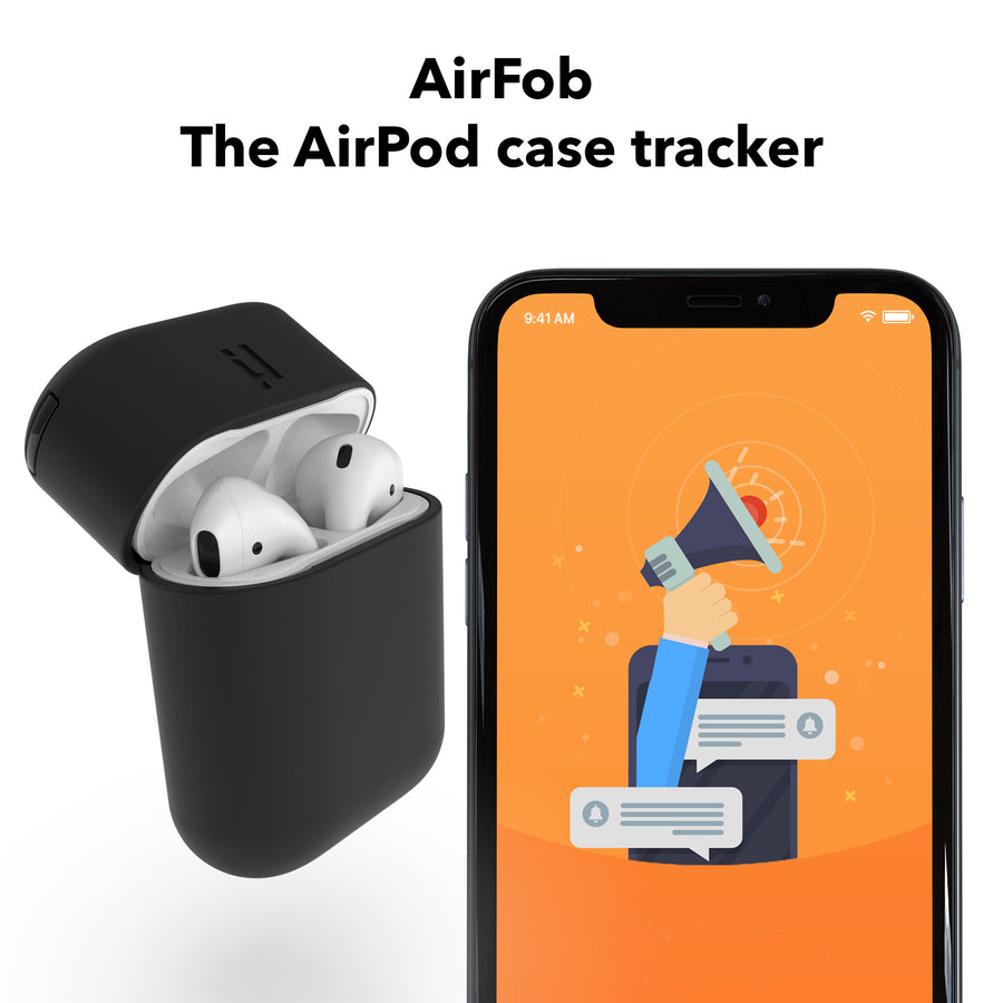 AirFob. The AirPods case tracker