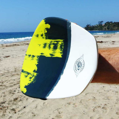 The Hawaiian Bula Enoka Shorebreak Handboard with Camera insert and Hand Strap