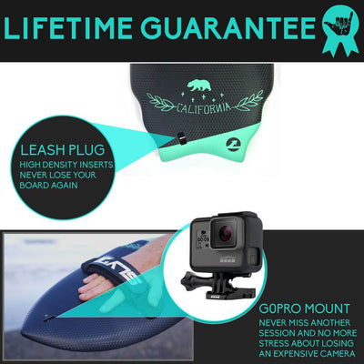 Wedge 389 Handboard For Bodysurfing and Hand Strap (New Colour)