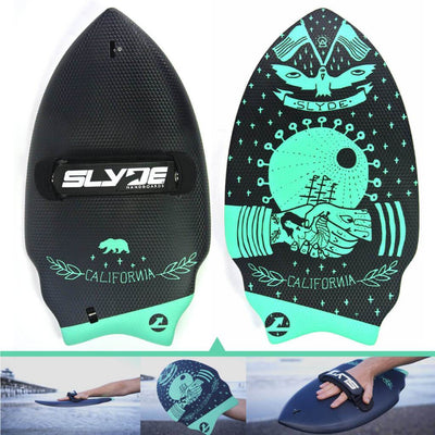 Wedge Californian Handboard For Bodysurfing With Camera Insert and Hand Strap