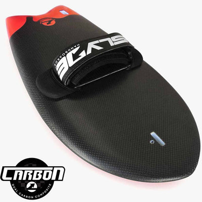 The Phish Carbon Rocket Handboard for bodysurfing with Camera Insert and Hand Strap