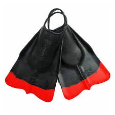 Black and Red DaFiN Swim Fins - Hawaiian Style