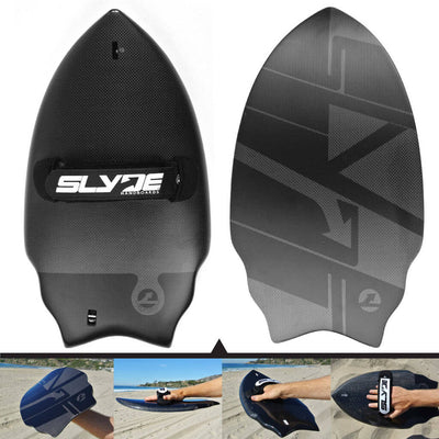 Wedge Carbon fiber Black Handboard For Bodysurfing With Camera Insert and Hand Strap