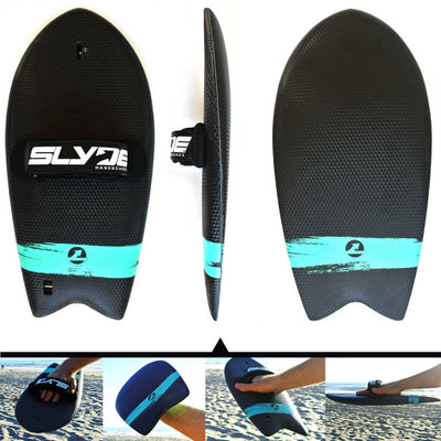 The Phish Titan Handboard for bodysurfing with Camera Insert and Hand Strap