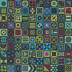 "Dark Colorful Meditative Cross-Stitch Pattern - ""100 Dark Ways"" LKMC011"