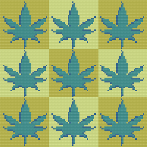 "Cannabis Cross Stitch Weed Pot MMJ Marijuana Cross-Stitch Pattern - ""420: Some Green"" LKMC010"
