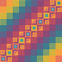 "Rainbow Meditative Cross-Stitch Pattern - ""Digital Rift"" LKMC001"