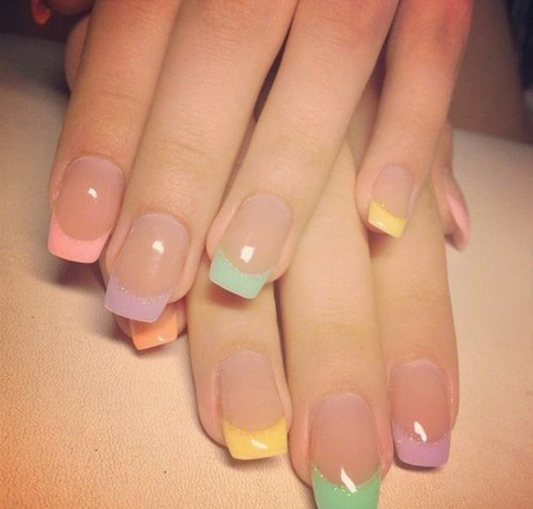 Pastel Point Nails